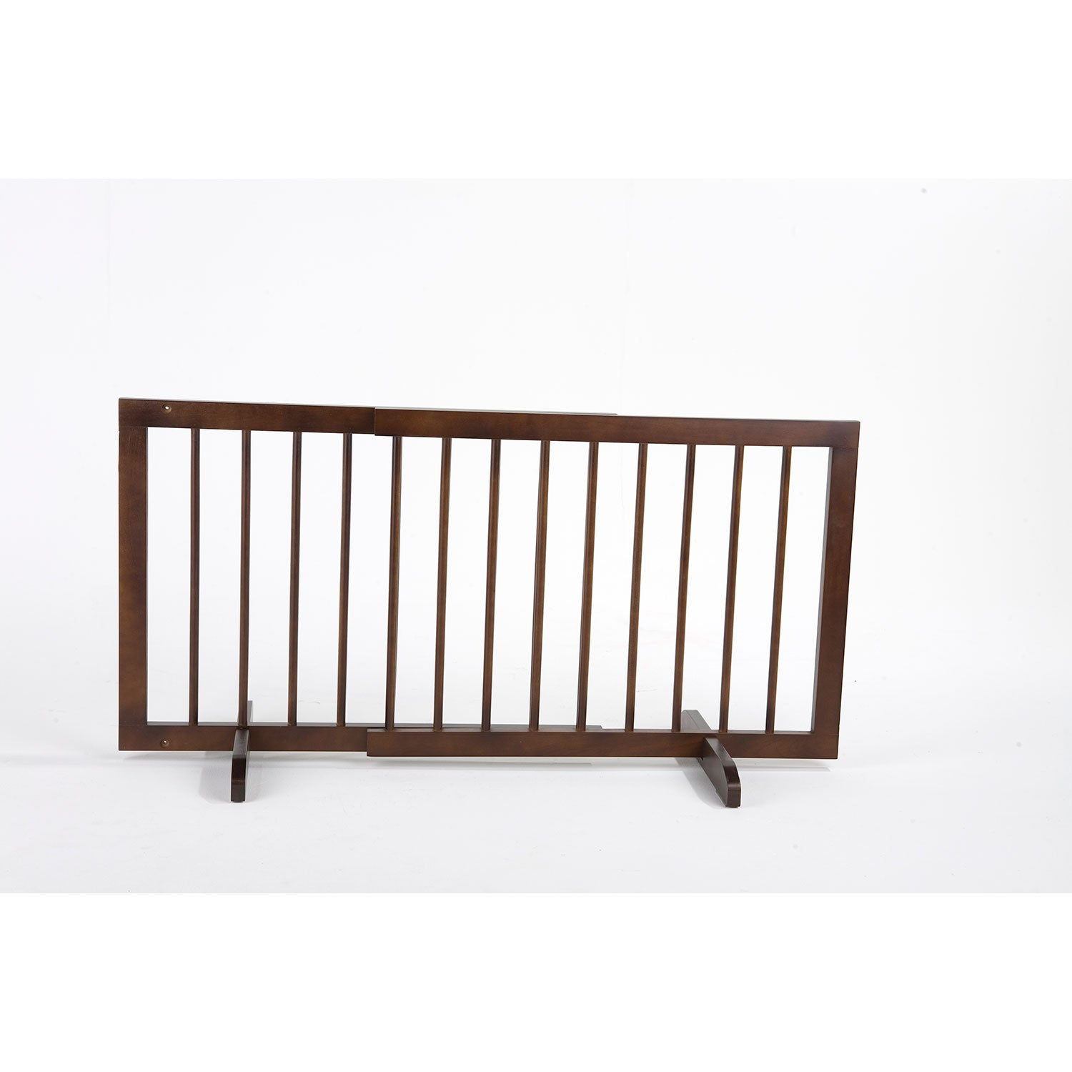 "Cardinal Gates Step Over Free Standing Pet Gate Walnut 28"" - 51.75"" x 2"" x 20"" Dog Gates - London the Local"