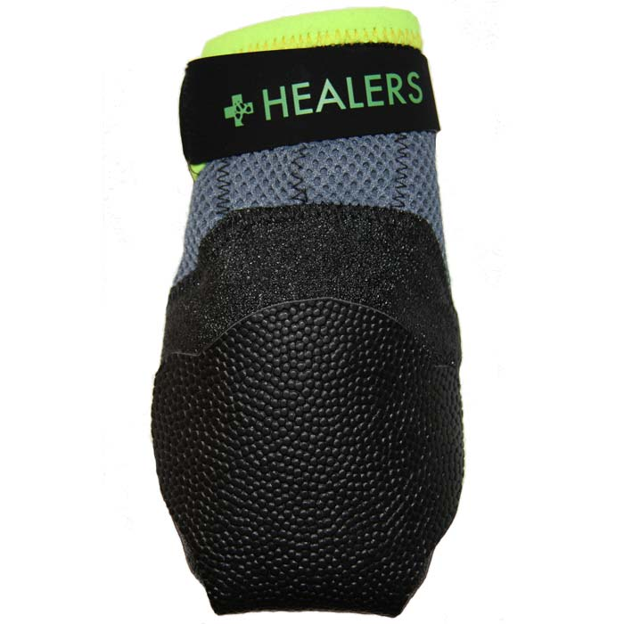 "Healers  Urban Walkers Dog Shoes 1 pair Extra Small Silver / Neon Yellow 2.5"" x 0.5"" x 3.5"" Dog Wellness - London the Local"