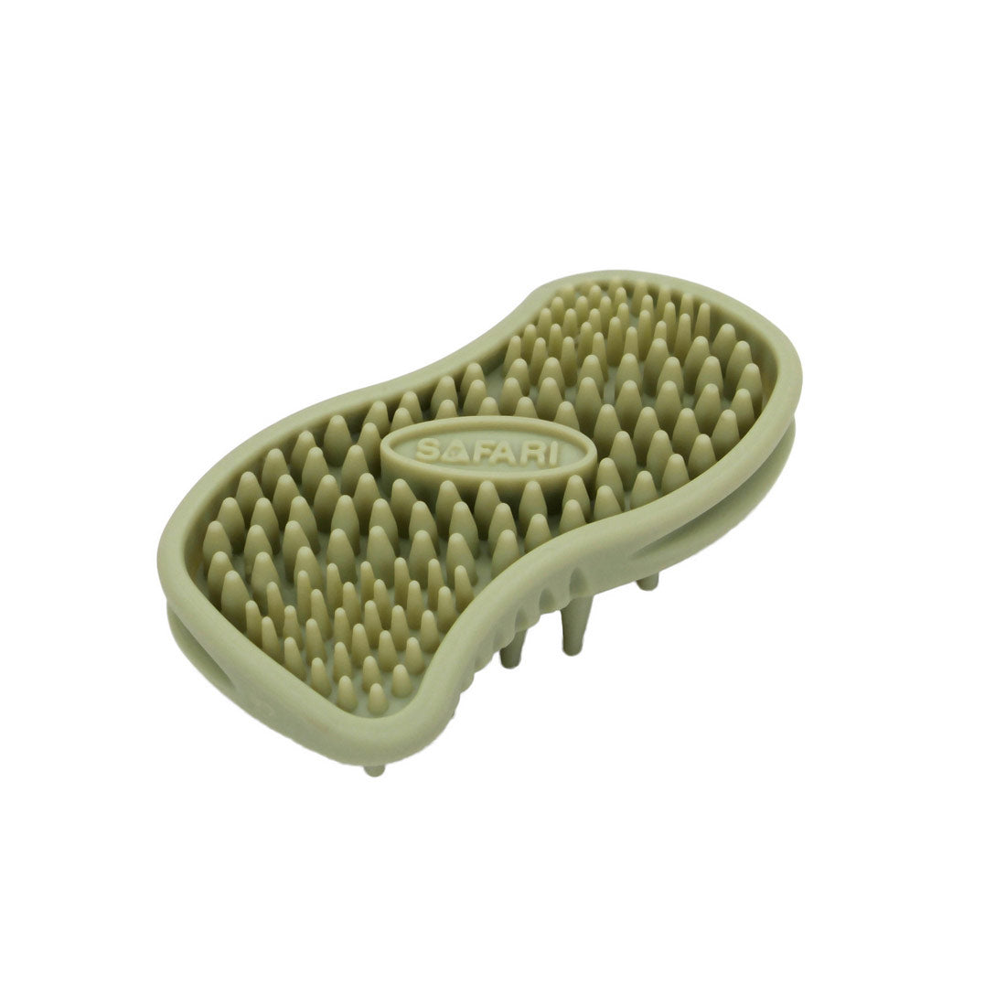 "Safari Cat Soft Tip Massager Brush Green 4.5"" x 2.5"" x 1.25"" Cat Grooming - London the Local"