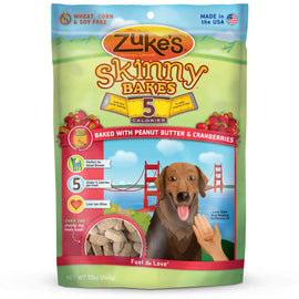 Zuke's Skinny Bakes 5's Peanut Butter and Cranberry 12 oz. Dog Treats and Bones - London the Local