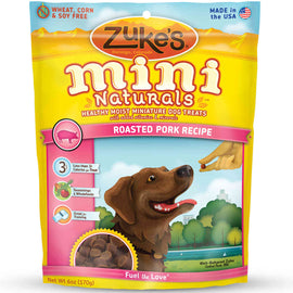 Zuke's Mini Naturals Moist Miniature Treat for Dogs Roasted Pork 6 oz. Dog Treats and Bones - London the Local