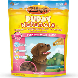 Zuke's Puppy Naturals Pork with Bacon 5 oz. Dog Treats and Bones - London the Local
