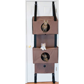 "K&H Pet Products Hanging Feline Funhouse Tan 22"" x 12"" x 70"" Cat Furniture - London the Local"