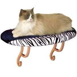 "K&H Pet Products Kitty Sill Zebra 14"" x 24"" x 9"" Cat Furniture - London the Local"