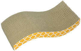 "Our Pets S Shaped Corrugate Cat Scratcher Brown 15.13"" x 8.25"" x 1.75"" Cat Toys - London the Local"