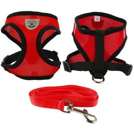 Soft Breathable Nylon Mesh Dog Harness and Leash Set Dog Harness - London the Local