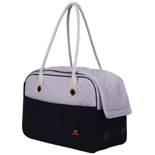 2 Tone Quilted Soft Sided Dog and Cat Carrier