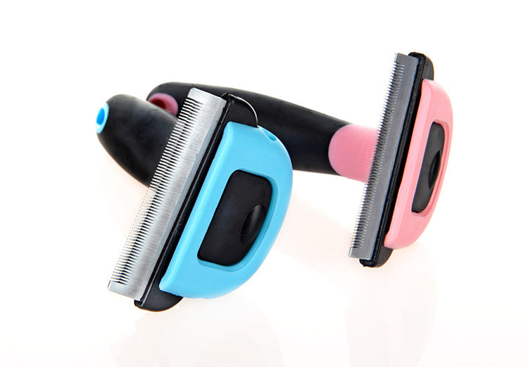 Colorful Dog and Pet Grooming Comb with Detachable Comb Pet Deshedding Comb - London the Local