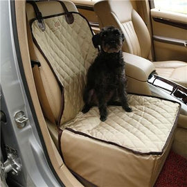 Stylish Car Booster Seat for Dogs, Nylon, Waterproof Dog Car Seat - London the Local
