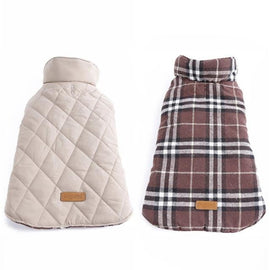 Plaid Waterproof Reversible Warm Dog Jacket Dog Jacket - London the Local
