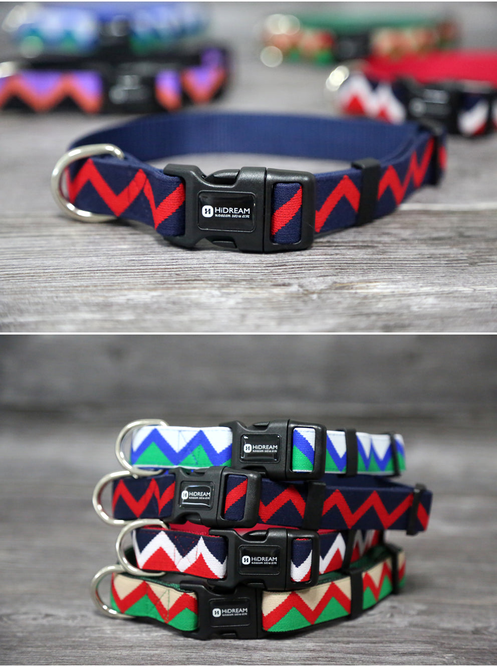 Handmade Colorful Zig Zag Dog Collar Dog Collar - London the Local