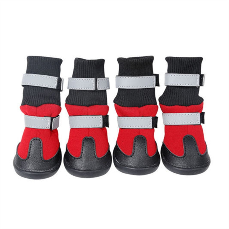 Protective Snow Booties (Red) dog shoes - London the Local