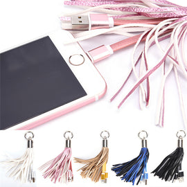 Leather Tassel Fast Charger Keychain Keychain Charger - London the Local