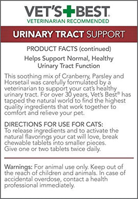 "Vet's Best Cat Urinary Tract Support 60 Tablets Green 2.5"" x 2.5"" x 4.94"" Cat Wellness - London the Local"
