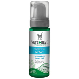 "Vet's Best Waterless Cat Bath 4oz Green 1.88"" x 1.88"" x 6.88"" Cat Grooming - London the Local"