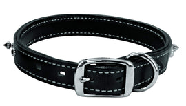 "Weaver Spike's Collar Doubled and Stitched Black 1"" x 25"" Dog Collars and Leashes - London the Local"