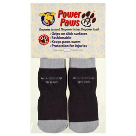 "Woodrow Wear Power Paws Reinforced Foot Extra Large Black/Gray 2.75"" - 3.125"" x 2.75"" - 3.125"" Dog Wellness - London the Local"