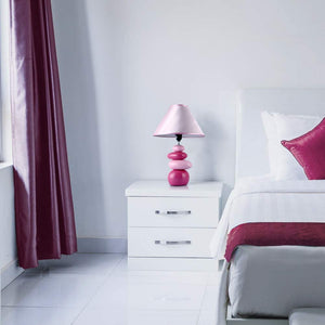 18 inch Pink Rock Design Ceramic Table Lamp