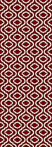 Trellis Design Red/Ivory Area Rugs