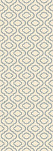 Trellis Design Ivory/Gray Area Rugs