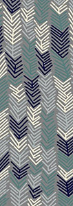 Contemporary Floral Gray/Grey/Navy/Teal/Beige Area Rugs