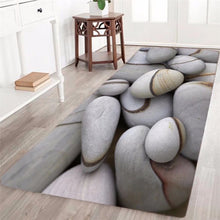 3D Cobble Printed Area Rug Runner Non-Skid