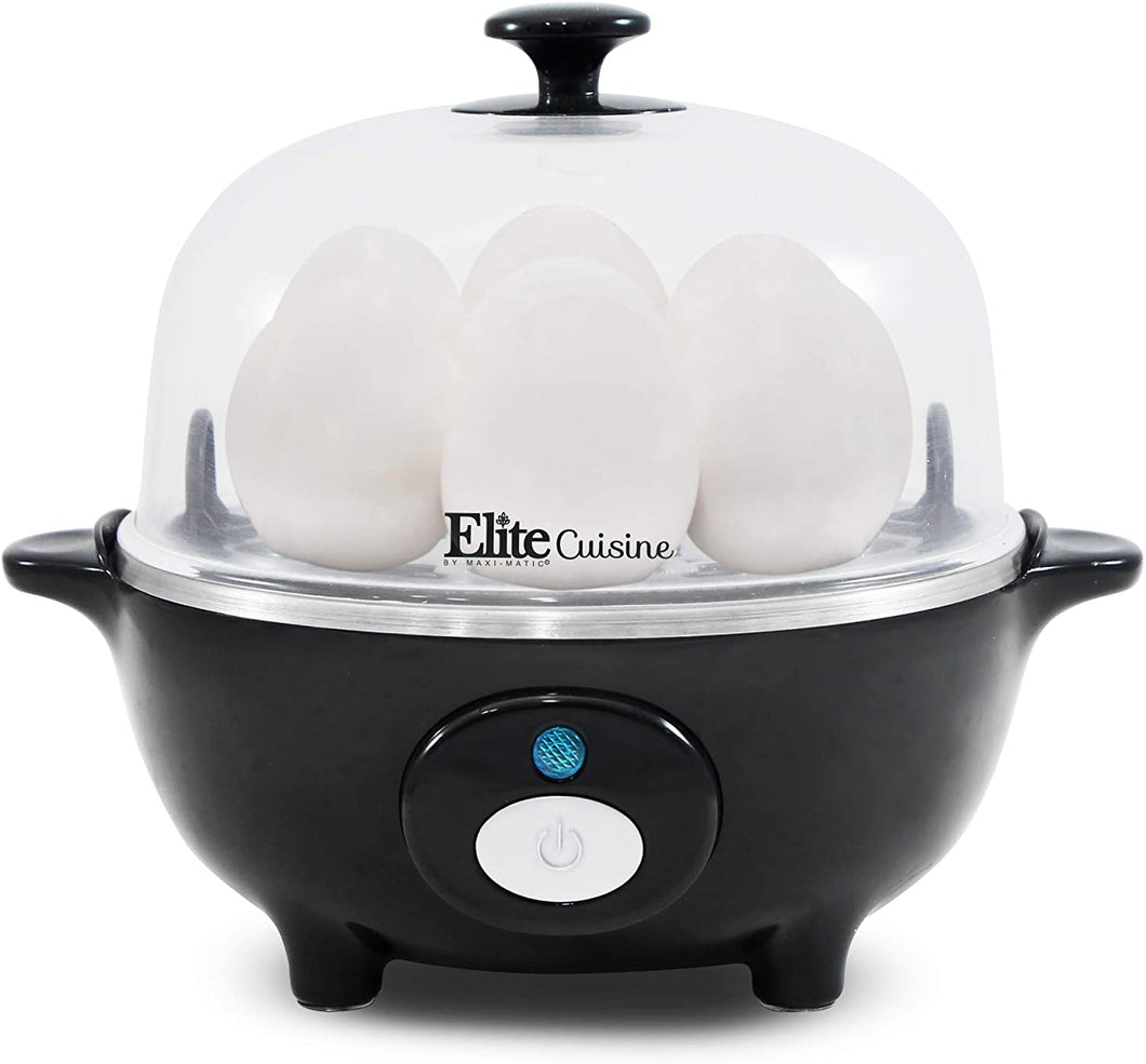Easy Electric Egg Poacher, Cooker W/ Auto-Shut off, Buzzer, 7 Egg Capacity