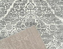 Persian Distressed Silver Gray Area Rugs
