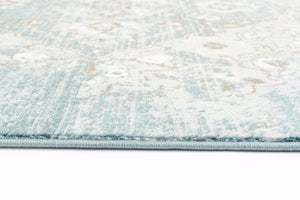 Persian Distressed Blue Soft Area Rugs