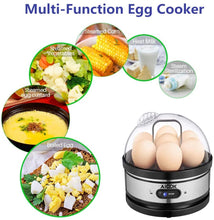 Electric Rapid Stainless Steel 7 Egg cooker Auto Shut Off