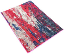 Bright Abstract Red Magenta Soft Area Rug