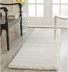 Ivory Soft Plush Shag Area Rug