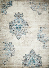 Persian Distressed Cream Blue Area Rugs