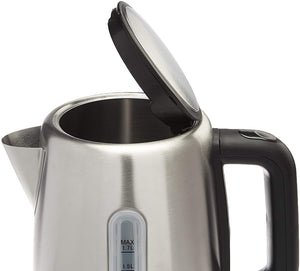 Stainless Steel Fast, Portable Electric Hot Water Kettle for Tea and Coffee, 1.7-Liter
