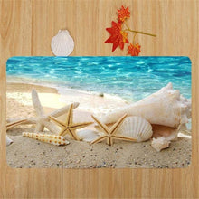 3D  Starfish Printed Area Rug Runner Non-Skid