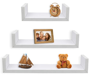 Floating U Shelves - Set of 3
