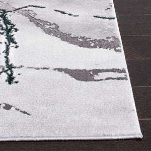 Collection  Modern Abstract Area Rug, Grey/Green