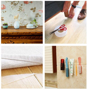 Double Sided Transparent Adhesive Grip Tape Sticky Anti-Slip Reusable Removable Washable