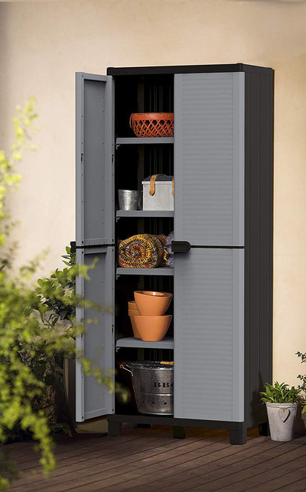 Home Garage Storage Cabinet with Doors and Shelves