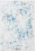 Modern Abstract Area Rug,  Ivory/Blue
