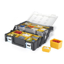 Heavy Duty Aluminum Handle Resin Home Garage Tool Box with 18 Bins