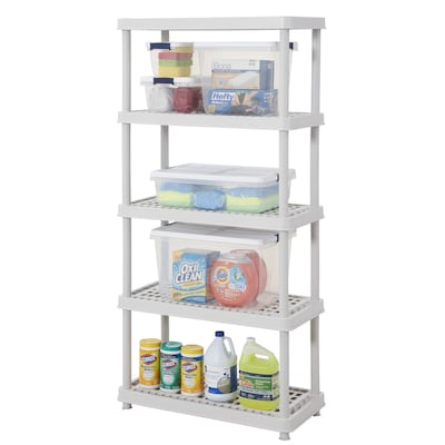 5-Tier Freestanding Home Garage Floor Shelving Unit