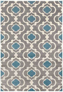 Trellis Grey Blue Indoor Area Rug