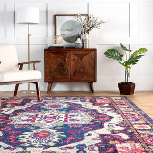 Corbett Vintage Boho Purple Soft Area Rugs - Multiple Sizes Available