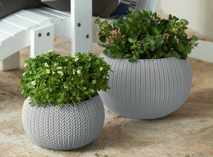 Knit Texture Planters Pots with Removable Liners