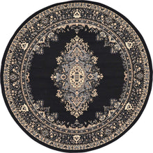 Traditional Medallion Black Soft Area Rug