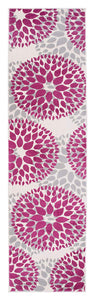 Floral Pink Gray Area Rugs