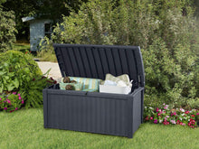 All Weather Outdoor Patio Garden Storage Bench Deck Box - 110 Gallon