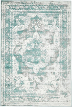 Vintage Distressed Turquoise Blue Area Rugs