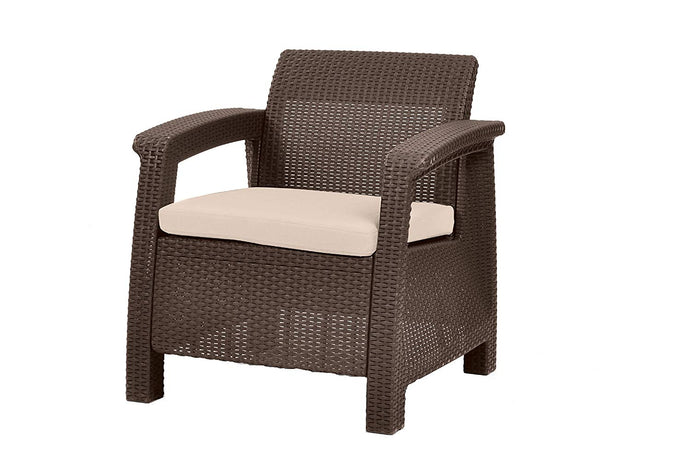 All Weather Indoor Outdoor Patio Armchair With Cushion